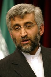 Iran's new chief nuclear negotiator Saeed Jalil speaks in Tehran