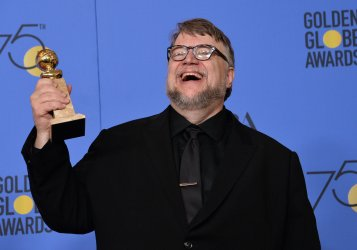 Guillermo del Toro wins the award for Best Director - Motion Picture for 'The Shape of Water' at the 75th annual Golden Globe Awards in Beverly Hills