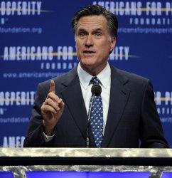 Gov. Mitt Romney gives campaign speech in Washington