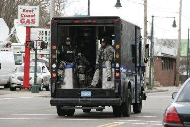 Search for Boston Marathon bombing suspects in Cambridge, MA