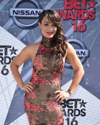 Mayte Garcia attends the BET Awards in Los Angeles