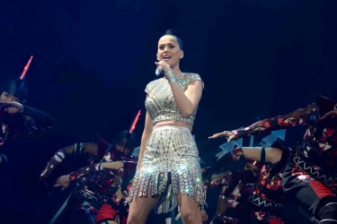 Katy Perry performs live in Glasgow.