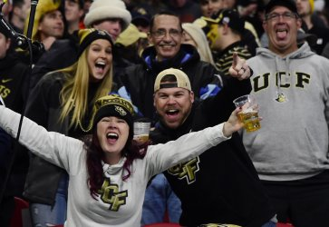 UCF fans during Peach Bowl