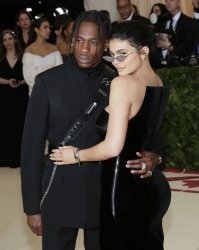 Kylie Jenner and Travis Scott at the Met Gala in New York