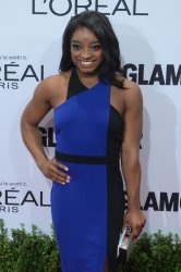 Olympic gymnast Simone Biles attends the Glamour Women of the Year gala in Los Angeles