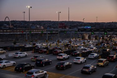 Asylum Seekers Wait at the Border