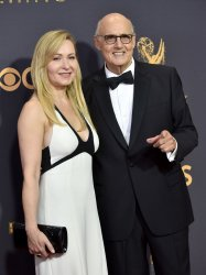 Kasia Ostlun and Jeffrey Tambor attend the 69th annual Primetime Emmy Awards in Los Angeles