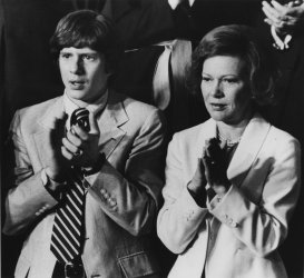 Rosalynn and Chip Carter attend joint Session of Congress