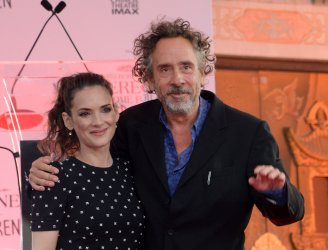 Tim Burton immortalized in forecourt of TCL Chinese Theatre in Los Angeles
