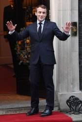 NATO leaders arrive at Number 10 Downing Street, London.