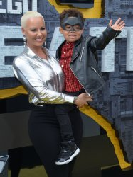 """Amber Rose and son Sabastian attend """"The LEGO Batman Movie"""" premiere in Los Angeles"""