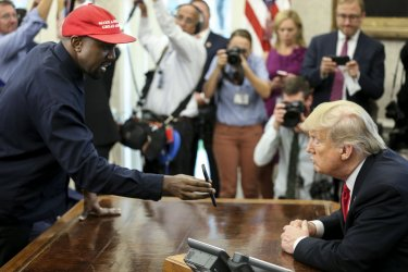 President Trump meets with Kanye West at the White House