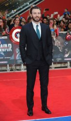 Chris Evans attends the UK Premiere of Captain America: Civil War at Westfield in London