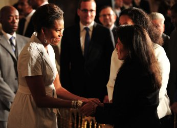 First Lady Michelle Obama announces new healthy eating commitments in Washington
