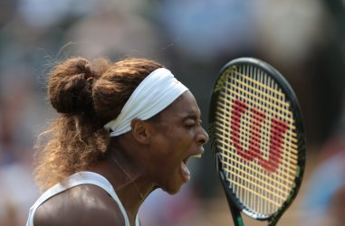 Serena Williams shows emotion at 2013 Wimbledon Championships