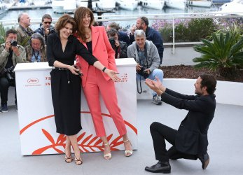 Fanny Ardant, Doria Tillier and Nicolas Bedos attend the Cannes Film Festival