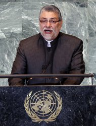 Paraguay's President Fernando Lugo addresses the 66th United Nations General Assembly at the UN in New York