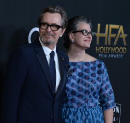 Gary Oldman and Gisele Schmidt attend 21st annual Hollywood Film Awards in Beverly Hills