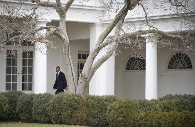 President Obama departs the White House in  Washington, D.C.