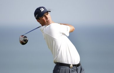 Kuchar tees on 9th hole during round 3 of the PGA Championship