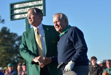 Billy Payne and Jack Nicklaus at the Masters
