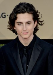Timothee Chalamet attends the 24th annual SAG Awards in Los Angeles