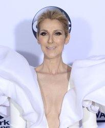 Celine Dion backstage at the Billboard Music Awards in Las Vegas