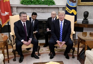 President Trump meets with the President of the Republic of Uzbekistan