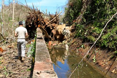 Members of the National Guard Take Part in Relief Efforts in Puerto Rico After Hurricane Maria