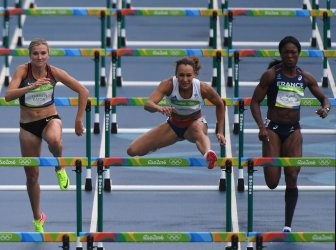 Jessica Ennis-Hill in Women's Heptathlon 100M Hurdles at 2016 Rio Summer Olympics