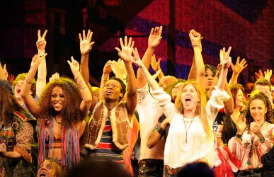 Broadway revival production of  Hair opens in New York