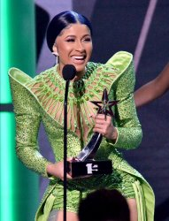 Cardi B wins Album of the Year award at BET Awards in Los Angeles