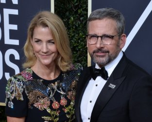 Nancy Carell and Steve Carell attend the 75th annual Golden Globe Awards in Beverly Hills