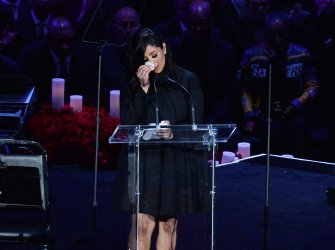 Vanessa Bryant speaks at the Kobe and Gianna Bryant memorial ceremony in Los Angeles