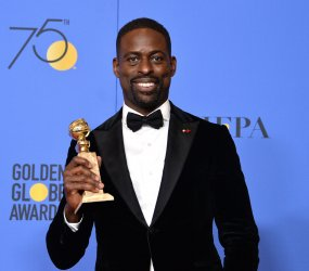 Sterling K. Brown wins the award for Best Performance by an Actor In A Television Series - Drama award for 'This Is Us' at the 75th annual Golden Globe Awards in Beverly Hills