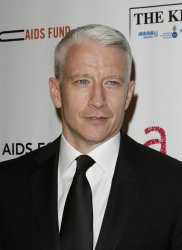 """Anderson Cooper arrives at """" An Enduring Vision""""  Elton John Aids Foundation Benefit at Cipriani in New York"""