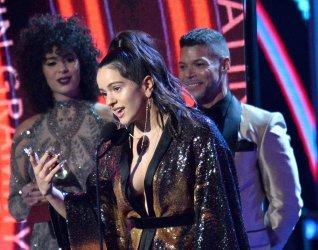 Rosalia wins Best Urban Fusion award during the 19th annual Latin Grammy Awards in Las Vegas