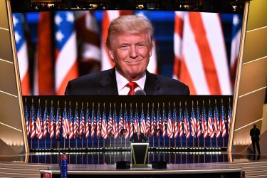 Donald Trump accepts Republican nomination at the RNC in Cleveland