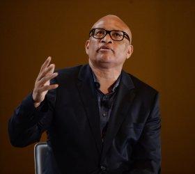 Larry Wilmore hosts a panel at Poiliticon in Paseadena, California