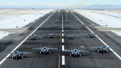 "Hill Air Force Base's Fighter Wings Conduct F-35A ""Elephant Walk"" Combat Power Exercise"