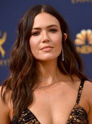 Mandy Moore attends the 70th annual Primetime Emmy Awards in Los Angeles