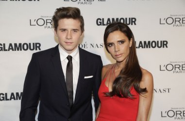 Victoria Beckham arrives at Glamour Woman of the Year Awards