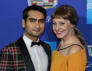 Kumail Nanjiani and Emily V. Gordon attend the Palm Springs International Film Festival in Palm Springs