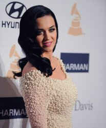 Katy Perry attends the Clive Davis pre-Grammy party in Beverly Hills, California