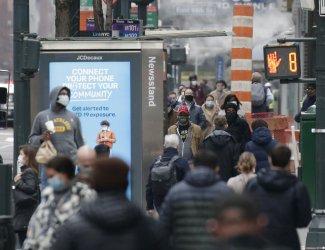 Pedestrians Wear Face Masks in New York City