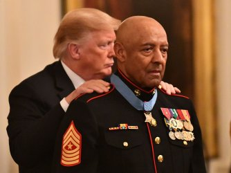 President Trump awards Medal of Honor to retired Sgt. Maj. John Canley