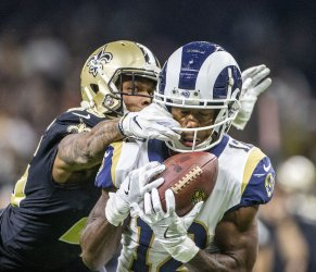 Los Angeles Rams wide receiver Brandin Cooks make a catch in the NFC Championship