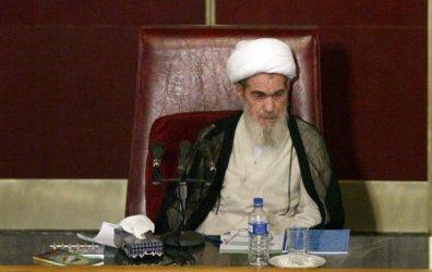 IRAN'S TOP CLERIC ALI MESHKINI DEAD IN A HOSPITAL IN TEHRAN