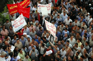 Opposition parties  demonstrate in the run up to Egypt's Presidential Elections, September 2005