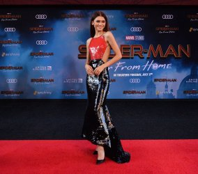 """Zendaya attends the """"Spider-Man: Far From Home"""" premiere in Los Angeles"""